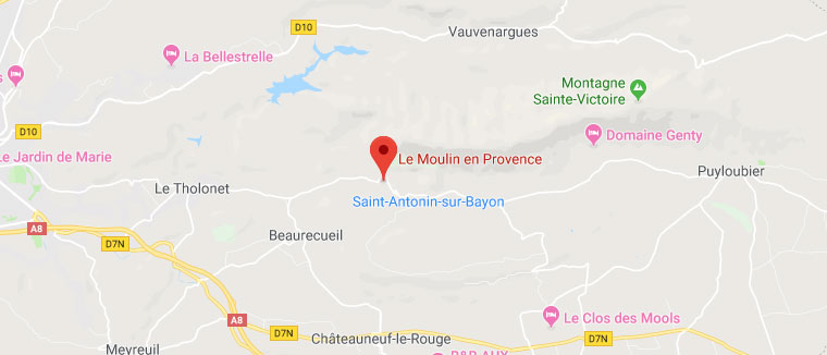 Le Moulin en Provence - Plan Google