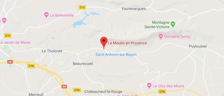 Le Moulin en Provence - Plan Google